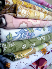 Lisa Pocklington designer stylist vintage floral fabric stash